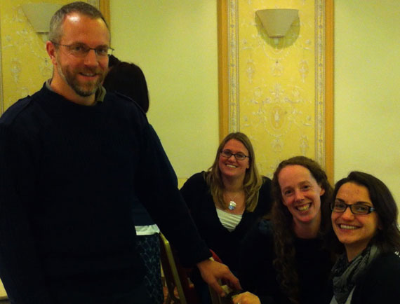Mingling with the Evolutionary Biologists: Tom Little, Amy Pedersen, Seanna McTaggart & Nicole Mideo