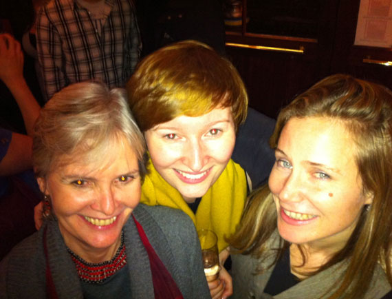 Christmas night out! Judi Allen, Anna Hoy & Amy Buck